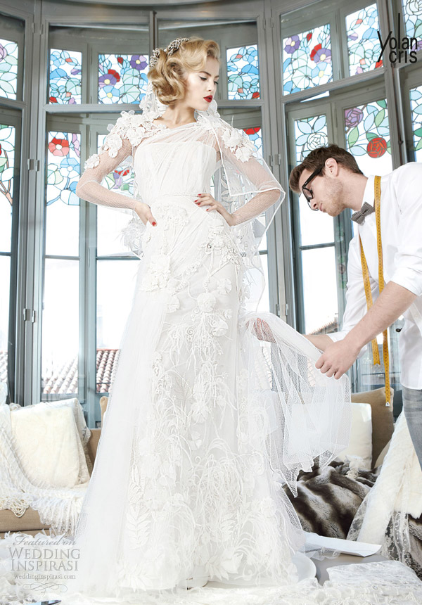 yolan cris couture bridal 2013 sumatra wedding dress