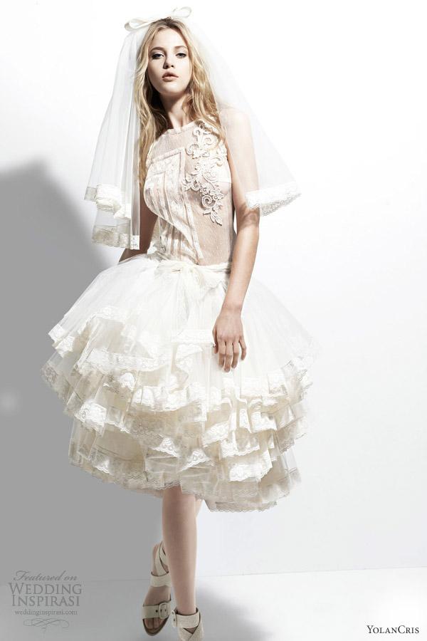 yolancris 2013 chelsea girl nepal short wedding dress