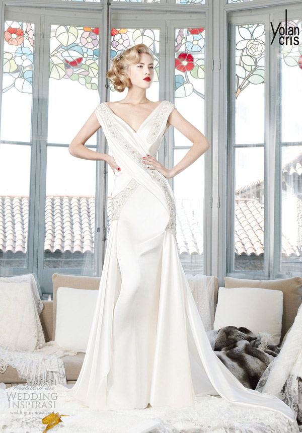 yolancris 2013 couture bridal zambia 1950s style wedding dress