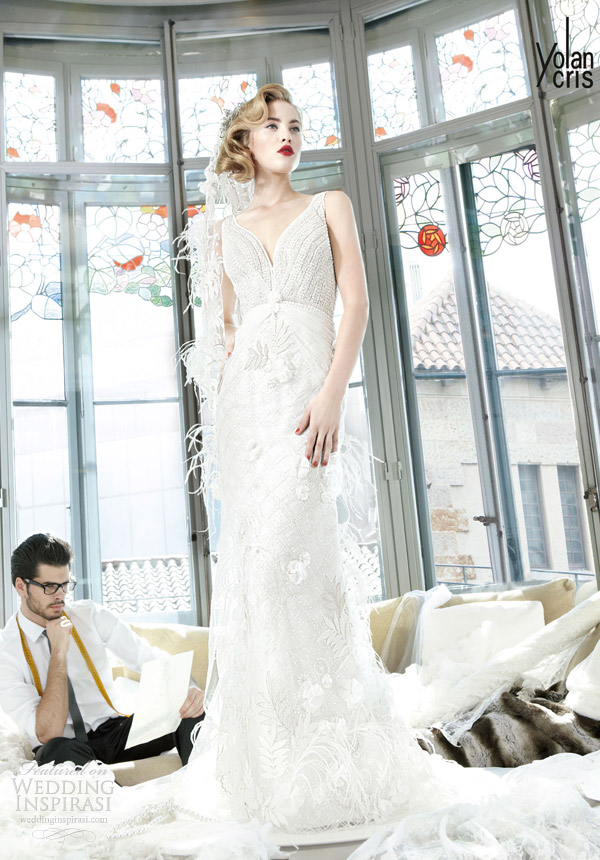 yolancris 2013 vesubio sleveless wedding dress
