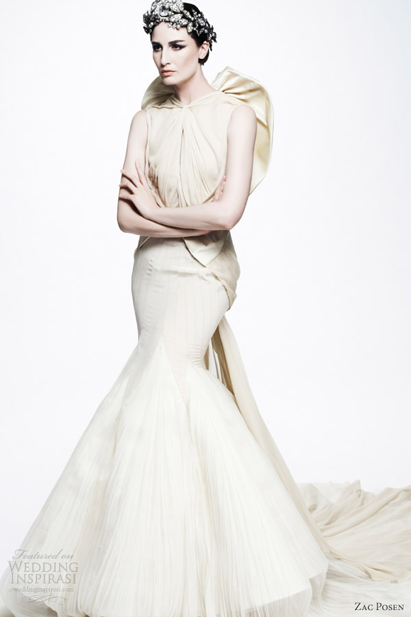 zac posen white dress resort 2013