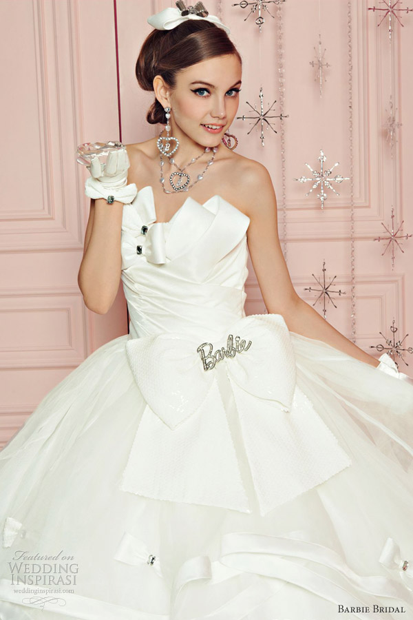 barbie bridal wedding dress 2012
