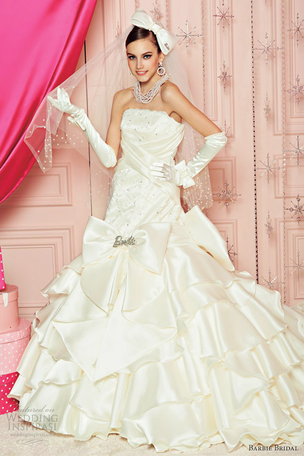 barbie bridal wedding dresses 2012 white ball gown