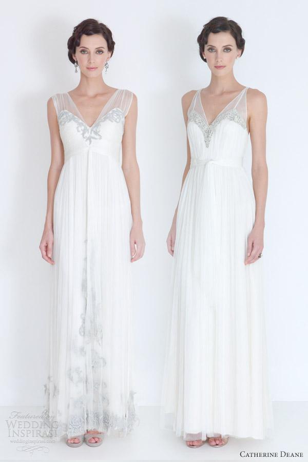 catherine deane bridal 2012 godiva francis wedding dresses illusion straps