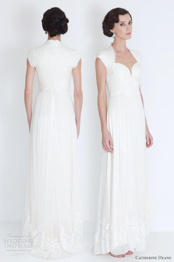 catherine deane wedding dresses 2012 elana cap sleeve gown
