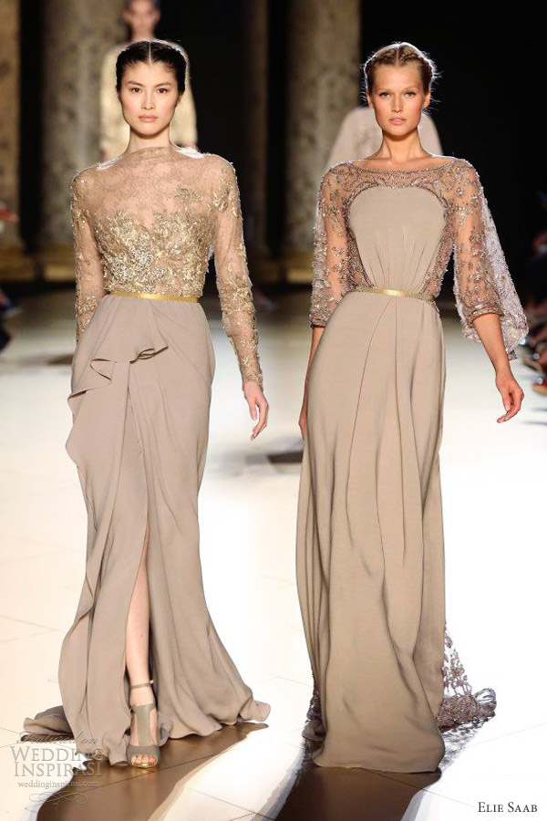 Elie Saab Fall Winter 2012 2013 Couture Wedding