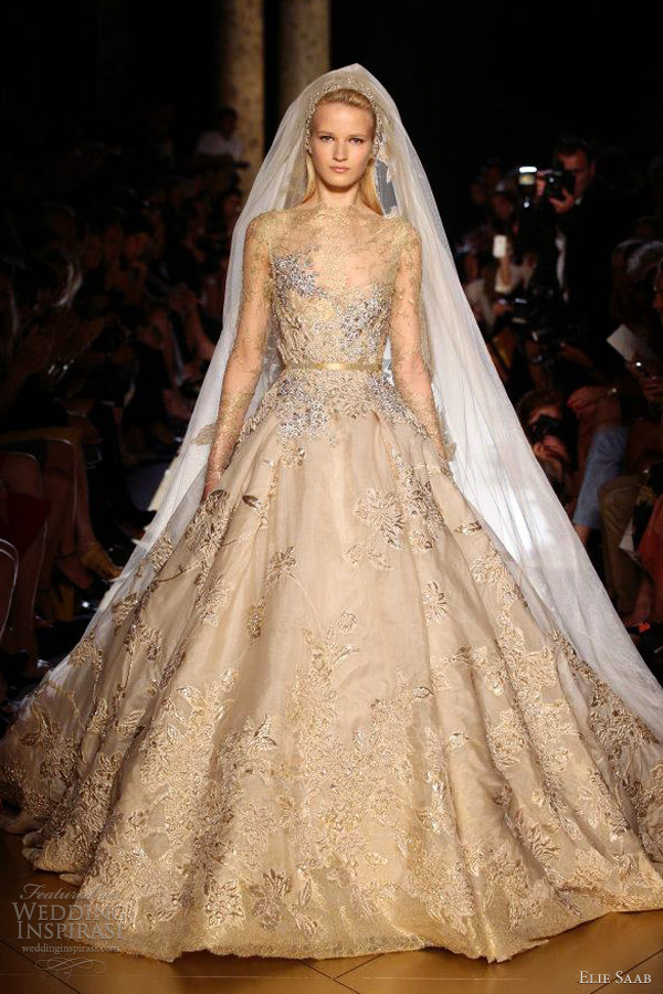 elie saab fall 2012 couture wedding dress ball gown