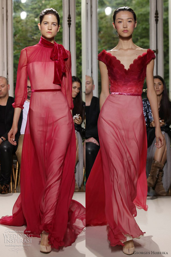 georges hobeika couture fall 2012 red gowns