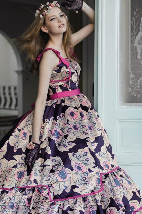 floral print wedding dress Fya9E73o