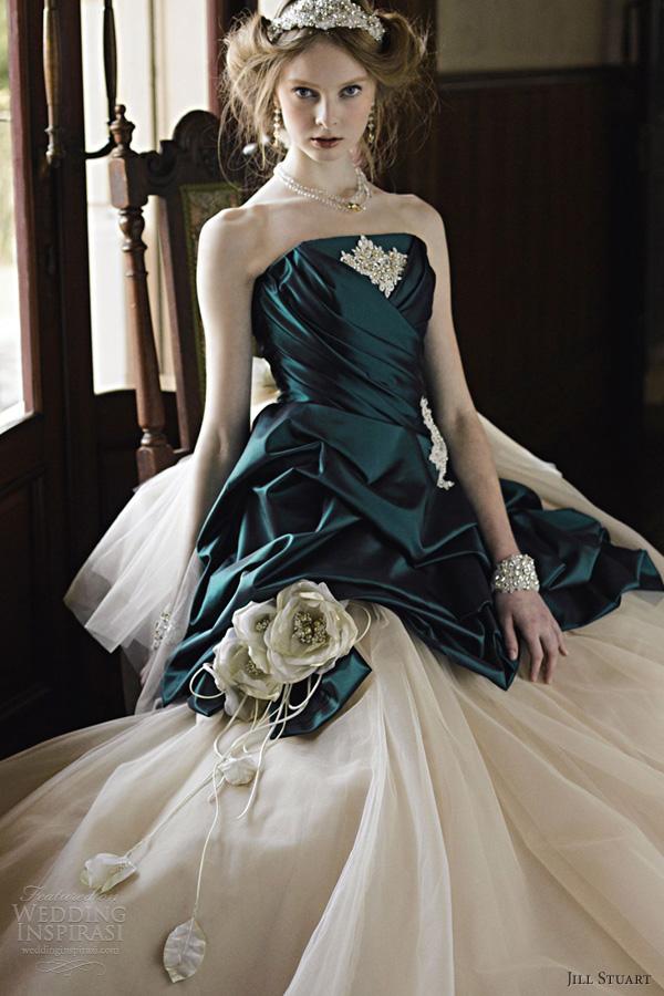 Jill stuart wedding dresses 2012 the eighth collection wedding jill stuart wedding dresses 2012 emerald green strapless ball gown junglespirit Images
