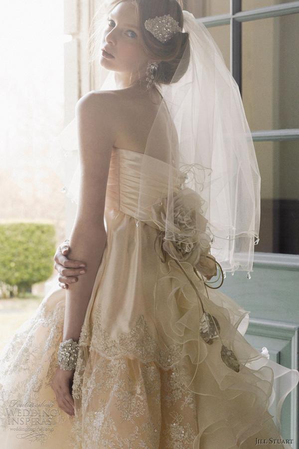 jill stuart wedding dresses 2012 strapless champagne ball gown