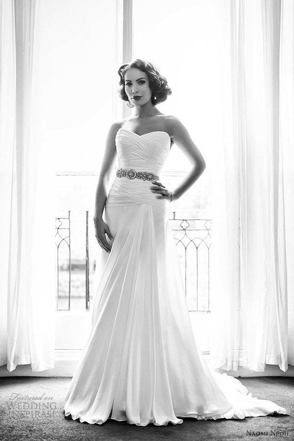 naomi neoh florence strapless a line sweetheart neckline wedding dress