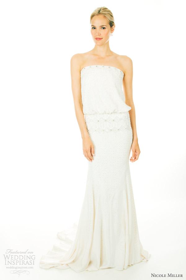 Nicole miller wedding dresses fall 2012 wedding for Nicole miller strapless wedding dress