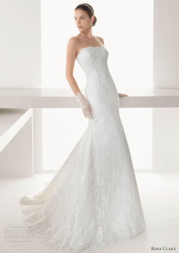 rosa clara 2013 baviera lace sheath wedding dress