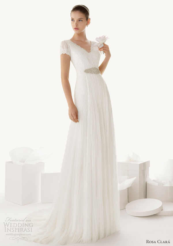 rosa clara 2013 beatriz short sleeve wedding dress