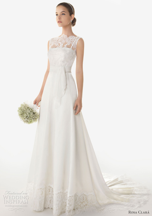 rosa clara 2013 bermeo sleeveless wedding dress illusion