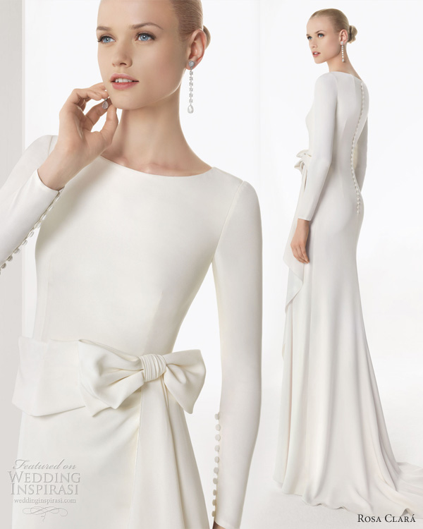 Rosa clar 2013 wedding dresses wedding inspirasi page 3 for Simple long sleeve wedding dresses