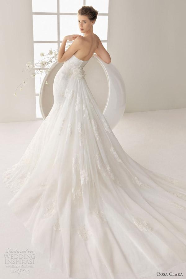rosa clara 2013 dandy strapless wedding dress train