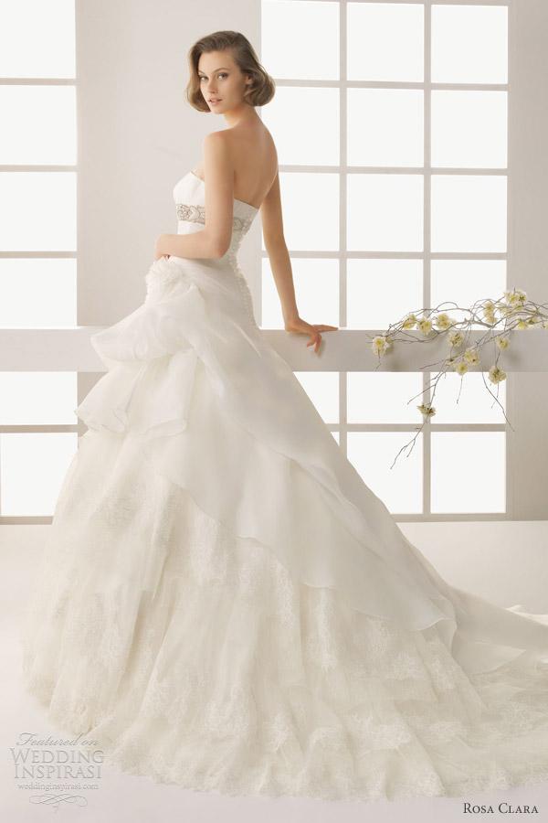 rosa clara 2013 two dinamarca embroidered organza beadwork wedding dress