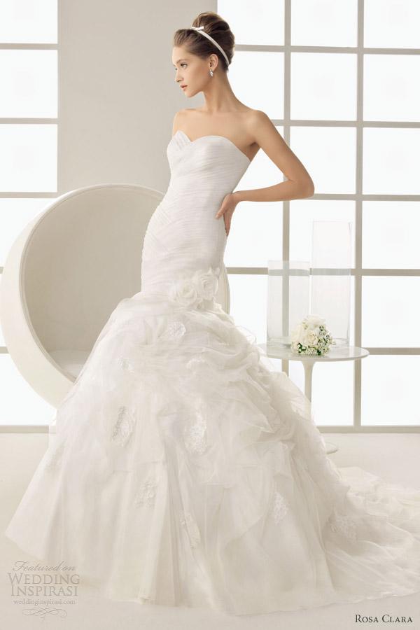 rosa clara 2013 wedding dresses diosa strapless mermaid gown gazare