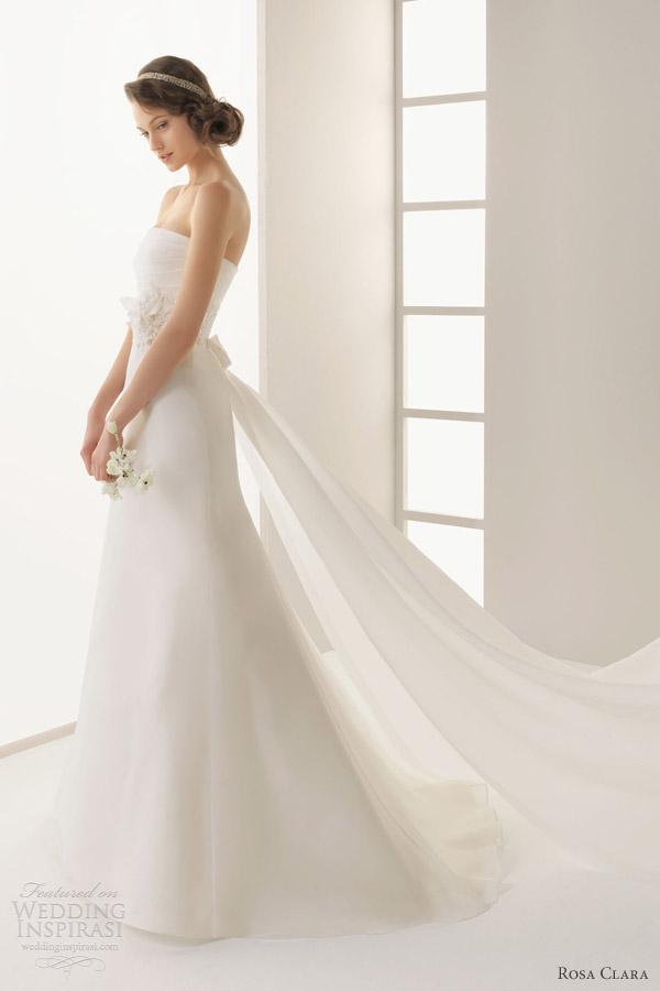 rosa clara two 2013 delta strapless royal organza lace wedding dress