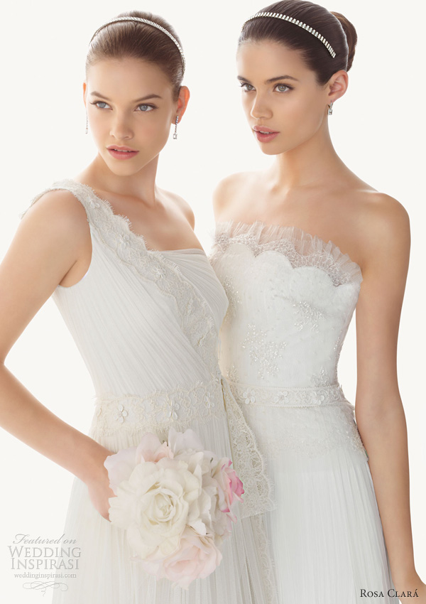 rosa clara wedding dresses 2013 begamo berta one shoulder strapless