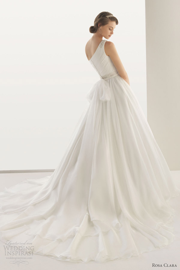 rosa clara wedding dresses 2013 two dedalo one shoulder gown