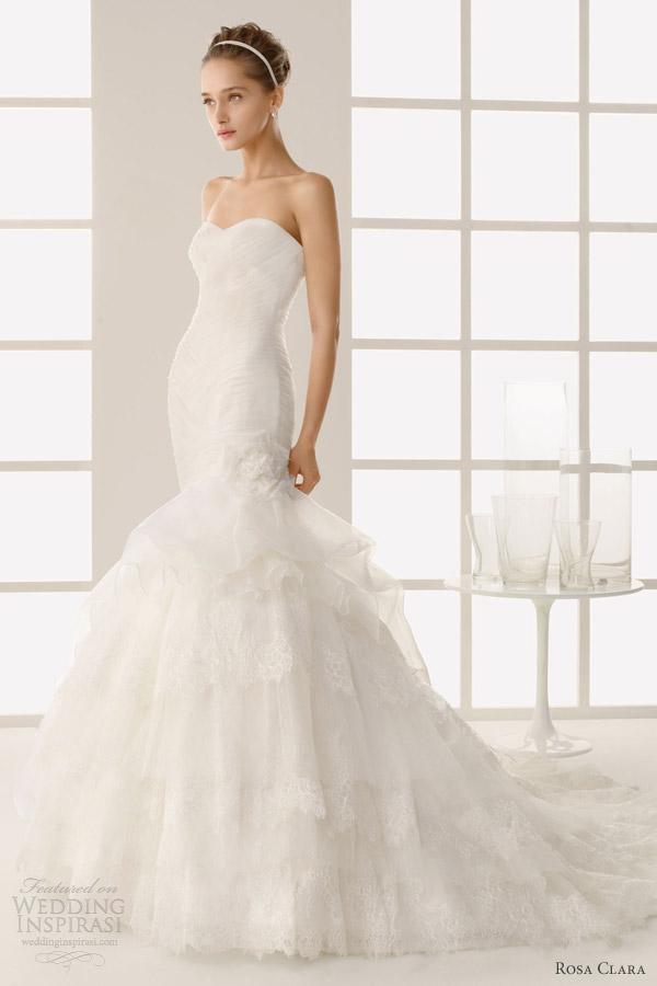 rosa clara wedding dresses 2013 two dimas strapless mermaid ruffle skirt