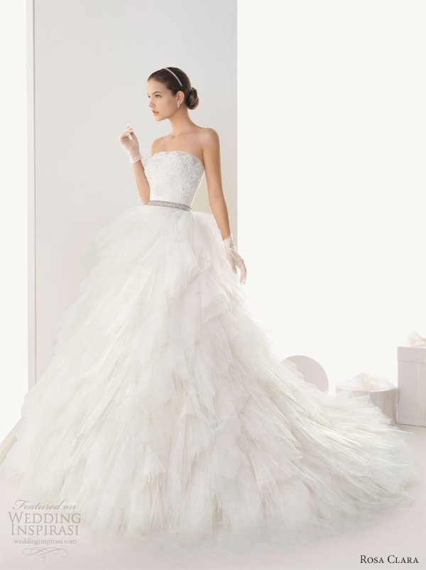 rosa clara wedding dresses strapless ball gown
