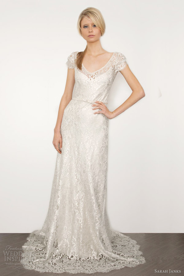 sarah janks 2013 bridal bettina silver lace wedding dress