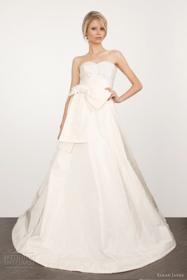 sarah janks wedding dresses 2013 couture chloe strapless ball gown