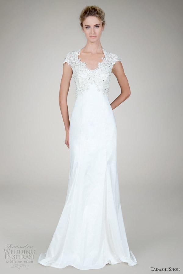 Tadashi Shoji Fall 2017 Bridal Beaded Lace Taffeta Wedding Dress