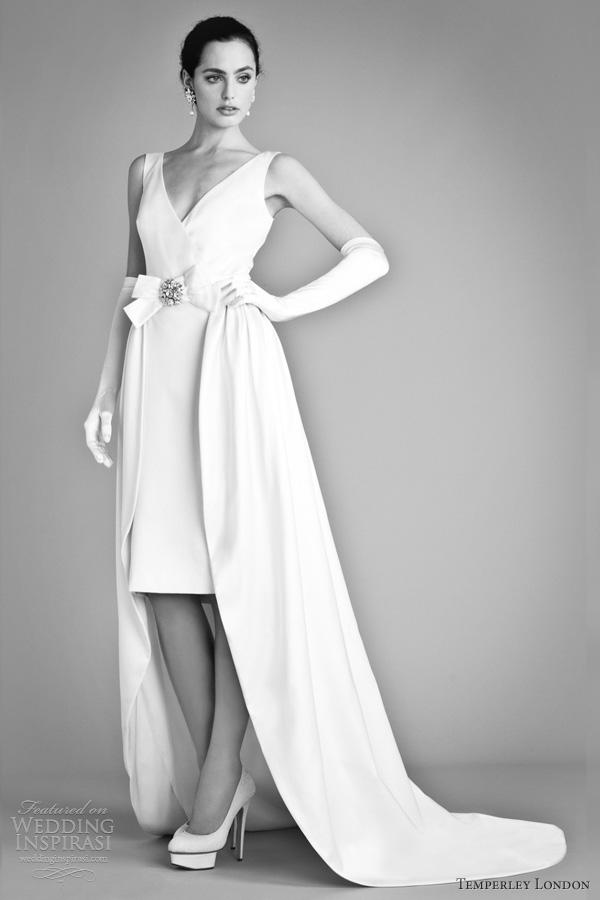 temperley london bridal fall 2012 avalia sleeveless wedding dress short long