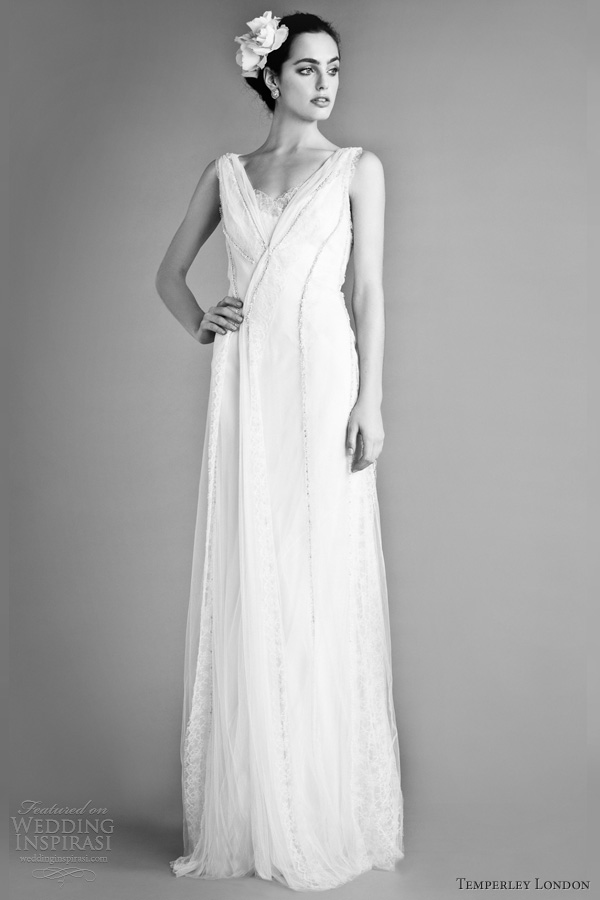 temperley london bridal fall 2012 glorioso sleeveless wedding dress straps