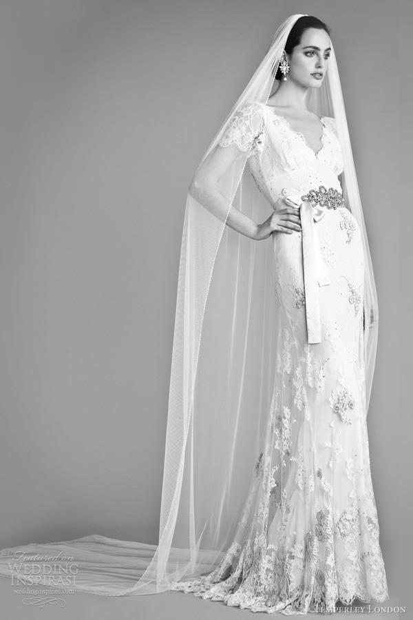 temperley london bridal fall 2012 honeysuckle wedding dress short sleeves