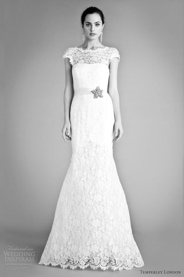 temperley london wedding dress fall 2012 bellerose bridal gown cap sleeves
