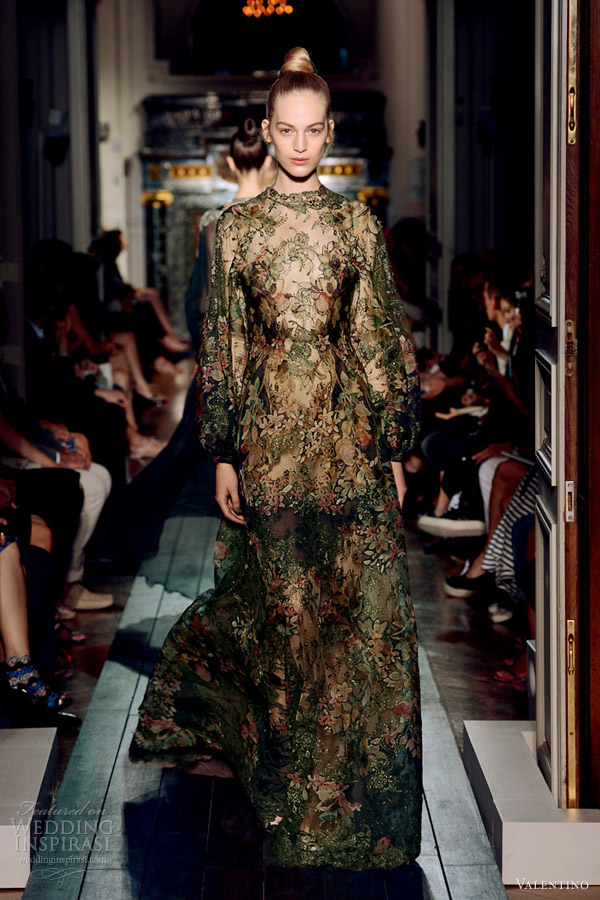 valentino fall winter 2012 2013 couture long sleeve dress