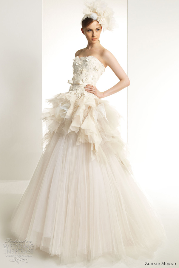 zuhair murad 2013 bridal kaolin wedding dress strapless ball gown novia