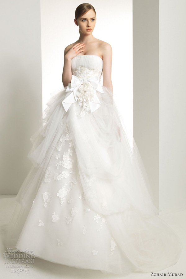 zuhair murad bridal 2013 kansas wedding dress strapless tulle ball gown
