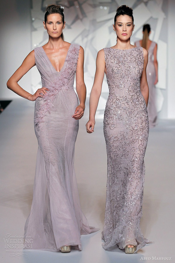 abed mahfouz fall 2012 couture sleeveless purple pale lilac lavender gowns