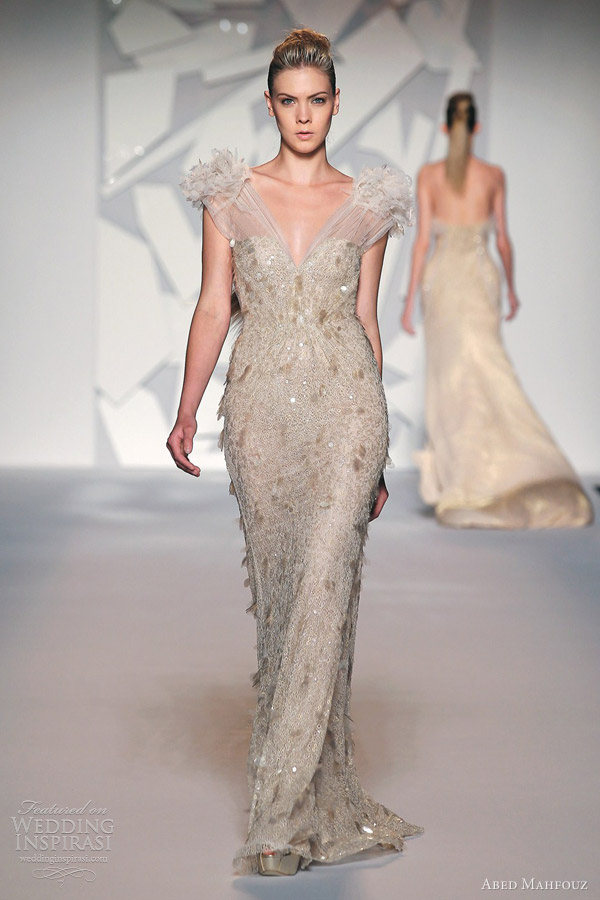 abed mahfouz fall 2012 gown gathered straps