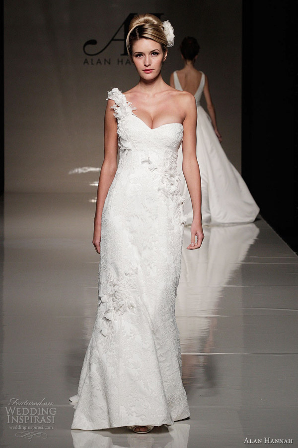 alan hannah 2013 betsey one shoulder wedding dress