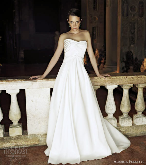 alberta ferretti 2013 wedding dress strapless gown colomba