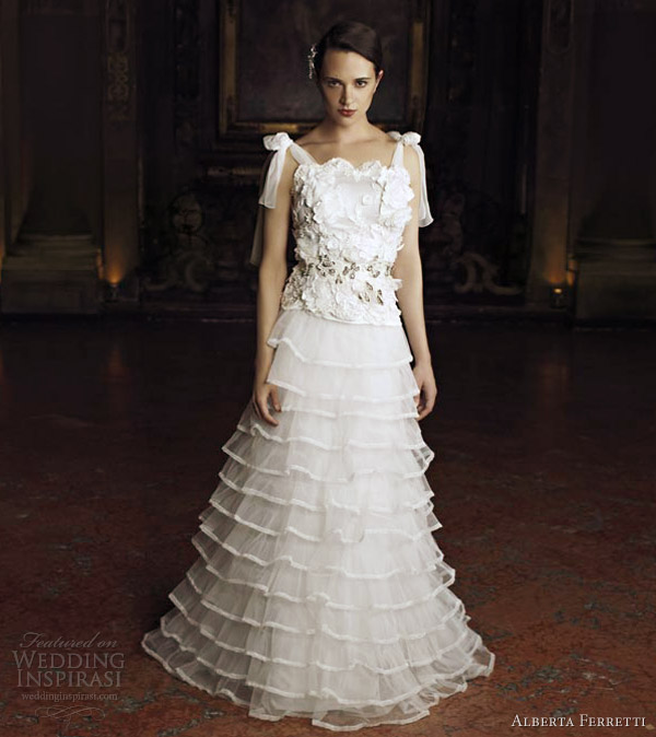 alberta ferretti wedding dresses 2013 magnolia gown tie up straps tiers