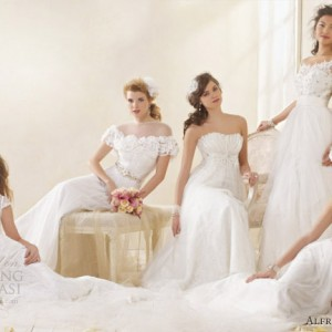 alfred angelo modern vintage bridal wedding dresses 2012