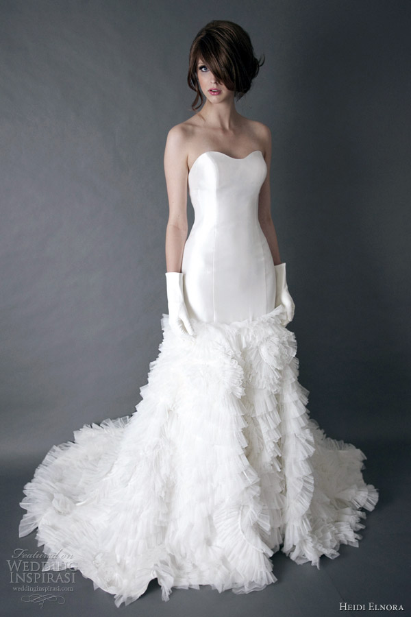 heidi elnora wedding dress spring 2013 galyn dane strapless mermaid