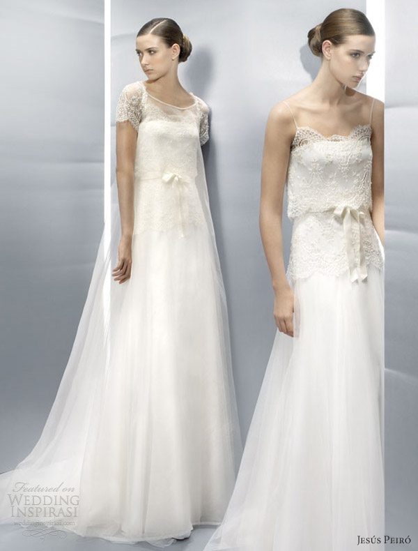 jesus peiro wedding dresses 2013 illusion short sleeve gown spaghetti straps