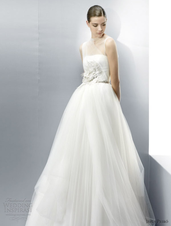 jesus peiro wedding dresses 2013 illusion sleeveless gown