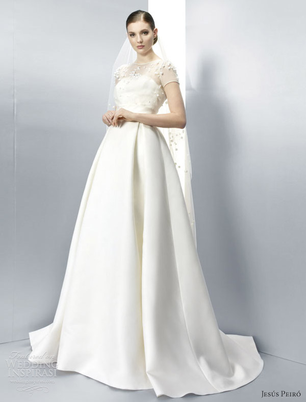 jesus peiro wedding dresses 2013 short sleeve ball gown