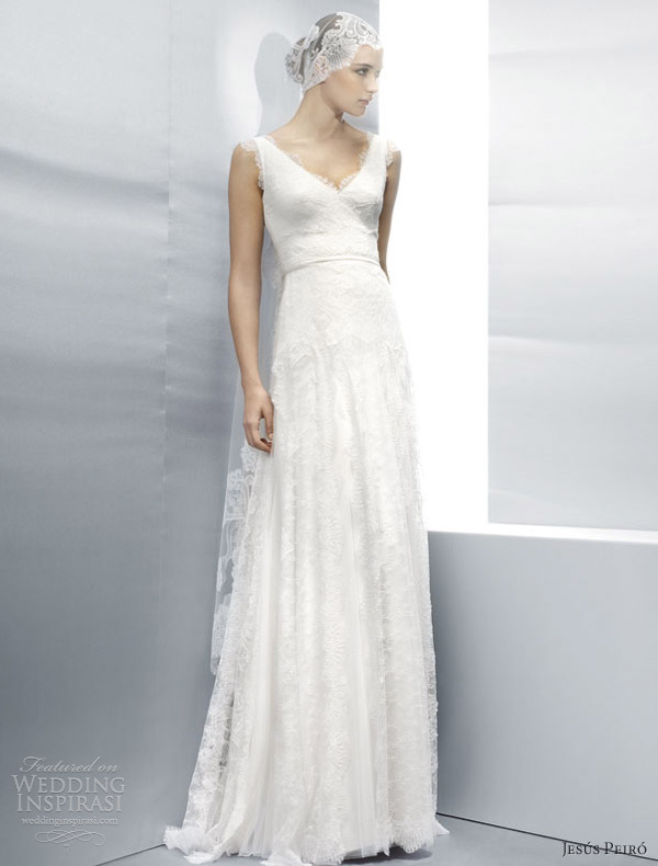 jesus peiro wedding dresses 2013 sleeveless all over lace sheath
